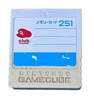 Genuine Memory Card For Nintendo GameCube 251 Club Nintendo