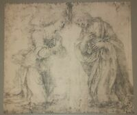 Study For Annunciation L. Di Credi /Da Vinci Rare Lithograph / Engraving