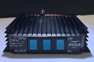 CB AMPLIFIER BURNER & PREAMP - RM KL 203P - AMP 100 W FM 200W SSB HF UK CHEAPEST