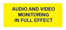 Pair AUDIO AND VIDEO MONITORING IN EFFECT DECALS (2 pk) DO YOU RECORD p251