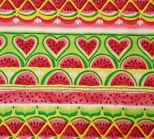 """34"""" Sweet & Juicy Unbranded Watermelon Pink Green Yellow Heart Stripe"""