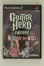 Playstation 2 4PC Video Game Lot GUITAR HERO II World Tour & Rocks the 80s