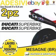 2 Adesivi/Sticker DUCATI SUPERBIKE 916 996 998 999 748 S R PANIGALE FACTORY NERO