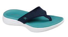 Skechers On-The-Go 600 Ladies Sporty Casual Toe Post Flip Flop Mule Sandals