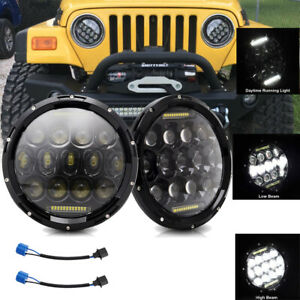 2X 7 Inch Round 280W Headlights Hi/Lo Fit for Jeep Wrangler 1997-2017 JK TJ LJ