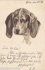 Treuer Hund Präge-AK 1901 Künstler Dogs Chiens Honden Tiere 1601032