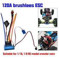 120A Brushless ESC Electric Speed Controller for 1/10 1/8 Scale RC Model Car