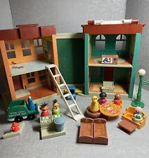 Vintage 1974 Fisher Price Little People #938 Sesame Street House