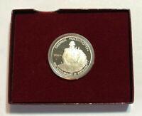 1982-S 50C US George Washington Proof Commemorative BU Silver Half Dollar w Box