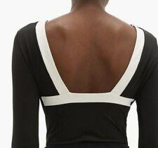 Vaara leotard XS bodysuit black ivory NEW dance yoga gym ballet top