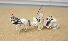 Preiser H0 Hochzeitskutsche mit Brautpaar und Pferdegespann, absolute Rarität!