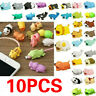 10PC Cartoon Animal Cable Bite Cute Phone Charger Protector Soft Cord Accessory