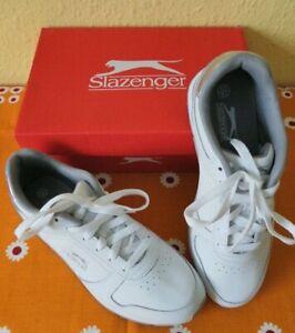 Slazenger Ladies UK Size 6.5 White Trainers Sneakers boxed Unworn