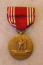 ORIGINAL ISSUE WWII ARMY GOOD CONDUCT MEDAL PIN BACK