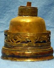 China 1850-1890  Opium lamp in brass -Opium lampe en cuivre