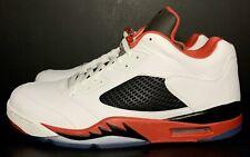 Air Jordan 5 Retro Low Fire Red 819171-101 Size 16