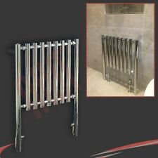 "600mm(w) x 800mm(h) ""Metis"" Chrome Designer Floor Mounted Towel Rail Radiator"