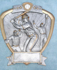 Baseball trophy resin shield plate Pdu 58503Gs