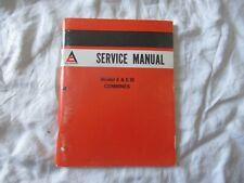 Allis-Chalmers E E III combine shop repair service manual