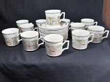 Kensington Staffords Shakespeare's Sonnets Set of 12 Cups and Saucers