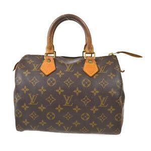 LOUIS VUITTON SPEEDY 25 HAND BAG PURSE MONOGRAM CANVAS VI0923 M41528 81884