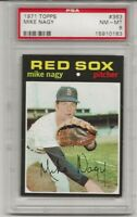 SET BREAK -1971 TOPPS # 363 MIKE NAGY,  PSA 8 NM-MT, BOSTON RED SOX,TOUGH L@@K !