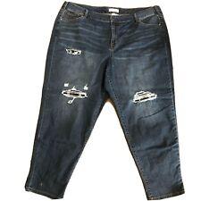 Lane Bryant Jeans Size 22 Flex Magic Waist Low Rise Boyfriend Distressed
