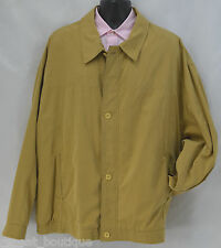 AXIS MENS JACKET poly blend light lined Coat Full Zip up button Camel SZ 3X NEW