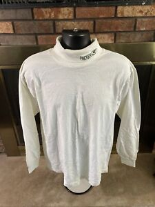 Vintage Green Bay Packers Football Turtle Neck Long Sleeve Shirt Large White