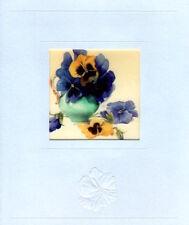 Marjolein Bastin Purple Pansy Pansies Flower Bouquet Hallmark Greeting Card