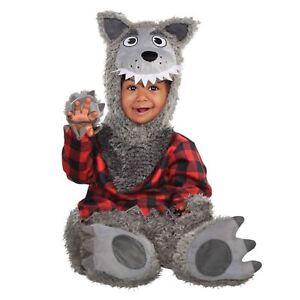 Baby Big Bad Wolf Animal Werewolf Halloween Babies Boys Girl Fancy Dress Costume