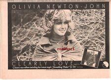 "OLIVIA NEWTON-JOHN Clearly Love 1975 UK Press ADVERT 12x8"""
