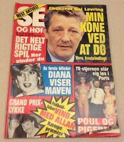 "Princess Diana Lady Di Prince Charles Vintage Danish Magazine 1984 ""Se og Hoer"""
