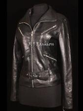 Abrigos y chaquetas de mujer negro de piel, talla 44