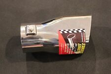 """Stainless Steel Square Exhaust Tips-2-3/4"""" outlet x 5"""" Length Bolt-on or Weld-on"""