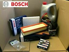 BOSCH SERVICE KIT FIAT 500 1.2i OIL AIR POLLEN FILTERS PLUGS SUMP PLUG & OIL