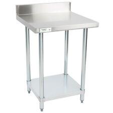 24 X 24 Stainless Steel Work Prep Shelf Table With Backsplash Commercial Nsf