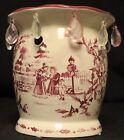 Yankee Candle Tealight Votive Warmer Christmas Carolers Pink White Bling Dangle