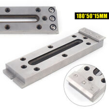 Wire Cut Edm Fixture Jig Board Tool For Clamping & Leveling 180*50*15mm Silver