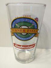 "Home of the ATLANTA BRAVES Turner Field 1997 Budweiser Beer 6"" Glass"