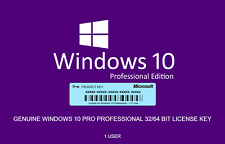 Microsoft Windows 10 Pro Professional 32 64bit Serial Key Code