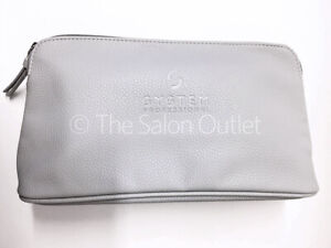 WellaSP System Professional Faux Leather Beige Clutch Toiletry Makeup Travel Bag