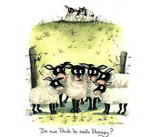 Do ewe think he/she needs therapy? print signed by UK artist Mark Denman