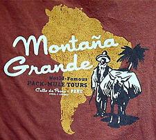 MONTANA GRANDE CALLO de PASCO PERU PACK MULE TOUR SMALL SHIRT FOSSIL AUTHENTIC.