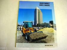 Volvo ZL402 L30 L35 L40 L45 Wheel Loaders Brochure