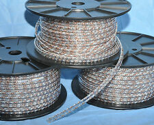 ATRM Silver/Copper twisted solid ribbon speaker cable (sold per ft) wire