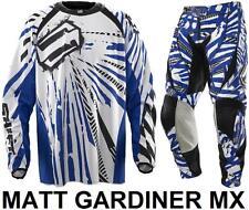 """Cambio de facción Motocross Kit Pantalones Jersey Azul 28 """"L"""