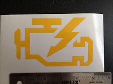 "Check Engine Light CEL Sticker Decal VW BMW JDM Euro illest - 4.75"" w x 3"" h"