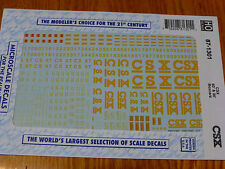 Microscale Decal HO  #87-1301  CSX 60' & 86' Boxcars. Use with 87-460, 87-463, 8