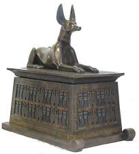 Veronese Bronze Figurine Egyptian God Anubis Treasure Box Statue Gift Home Decor